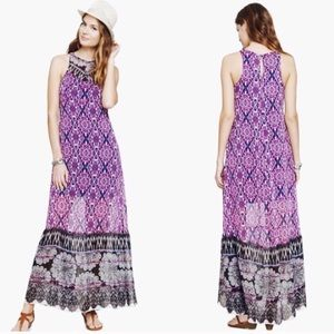 NWT Express tapestry and lace print maxi dress S